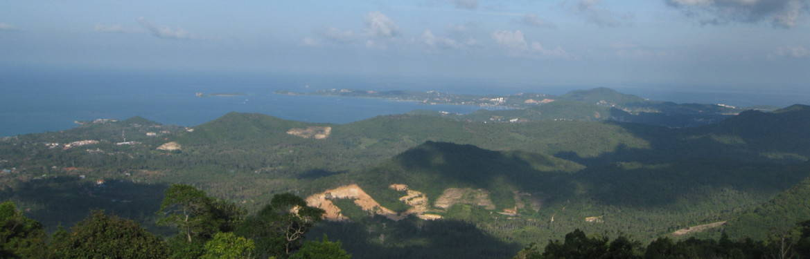 Part of the grand view over Samui