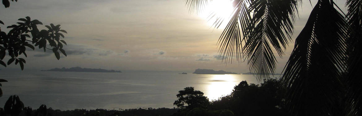 Hiking on Samui - Sunset starting