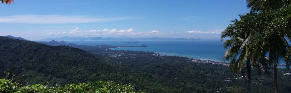View over the west side of Samui